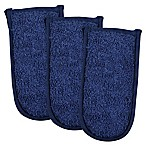 Design Imports Terry Pan Handles in Nautical Blue (Set of 3)