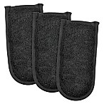 Design Imports Terry Pan Handles in Black (Set of 3)