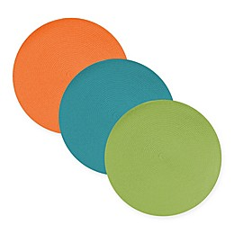 Design Imports Round Woven Indoor/Outdoor Placemats (Set of 6)