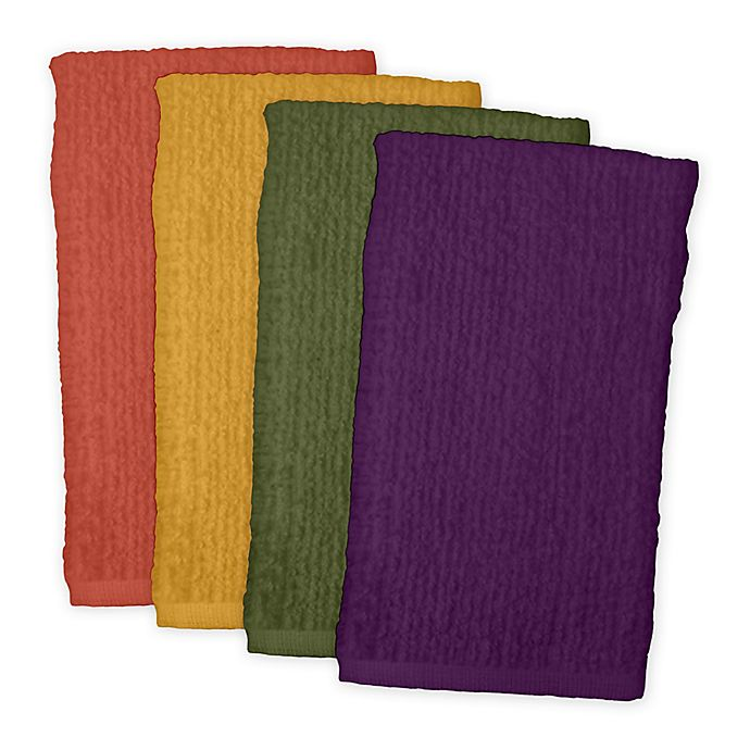 Alternate image 1 for Design Imports 4-Pack Bar Mop Kitchen Towels in Warm Colors