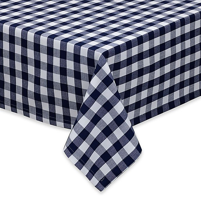 Alternate image 1 for Design Imports Checkers 52-Inch Square Tablecloth in Multi