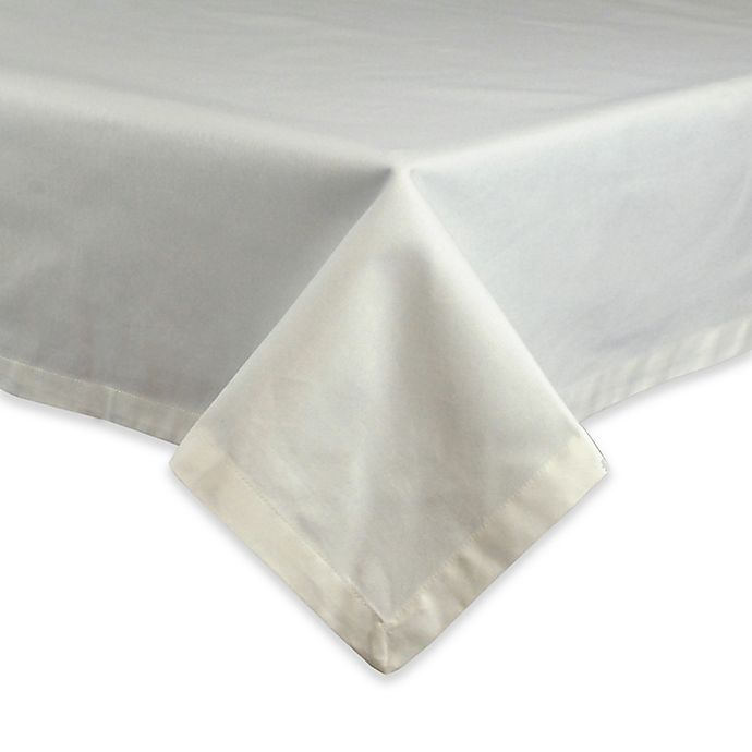 Alternate image 1 for Design Imports Restaurant Quality 52-Inch Square Tablecloth in White