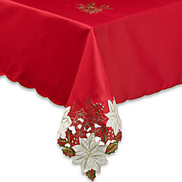 Kori Poinsettia Tablecloth in Red