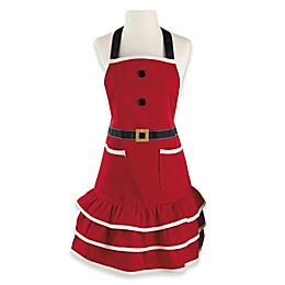 Design Imports Mrs. Claus Apron in Red/White