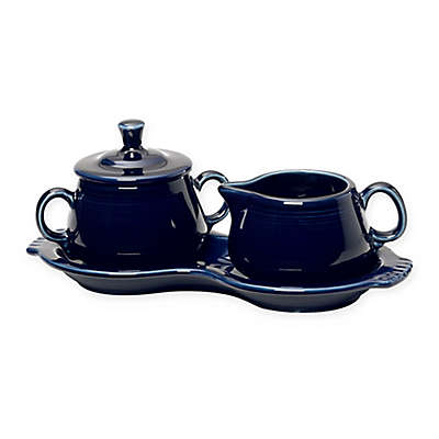 Fiesta® Sugar and Creamer Set with Tray in Cobalt Blue