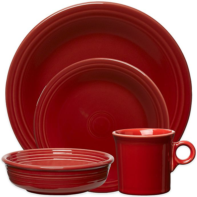 Alternate image 1 for Fiesta® 4-Piece Place Setting in Scarlet