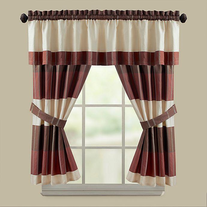 CroscillR Fairfax Bath Window Curtain Panel And Valance In Taupe