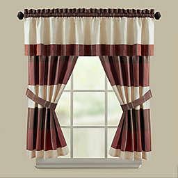Croscill® Fairfax Bath Window Curtain Panel and Valance in Taupe