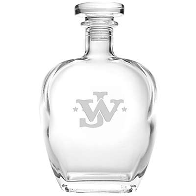 Rolf Glass John Wayne Monogram Whiskey Decanter