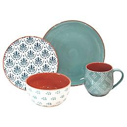 Baum Oasis 16-Piece Dinnerware Set in Turquoise