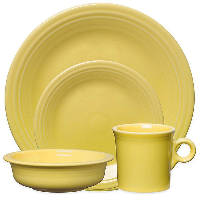 Alternate image 1 for Fiesta® 4-Piece Place Setting in Sunflower