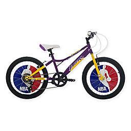 NBA Los Angeles Lakers 20-Inch Kids Mountain Bike in Yellow/Purple