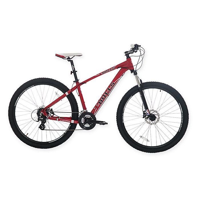nba chicago bulls 29 inch 425mm mountain bike with disc brakes in red black bed bath beyond. Black Bedroom Furniture Sets. Home Design Ideas