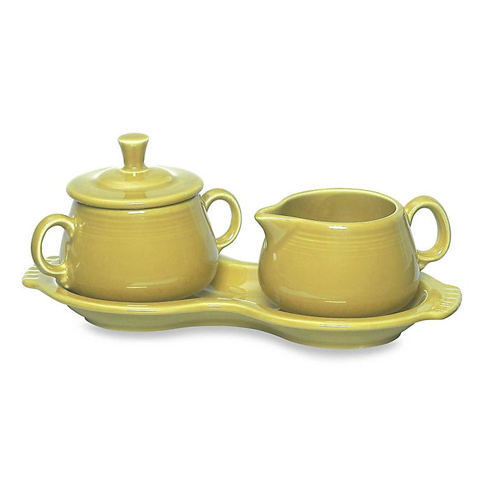 Alternate image 1 for Fiesta® Sugar and Creamer Set with Tray in Sunflower