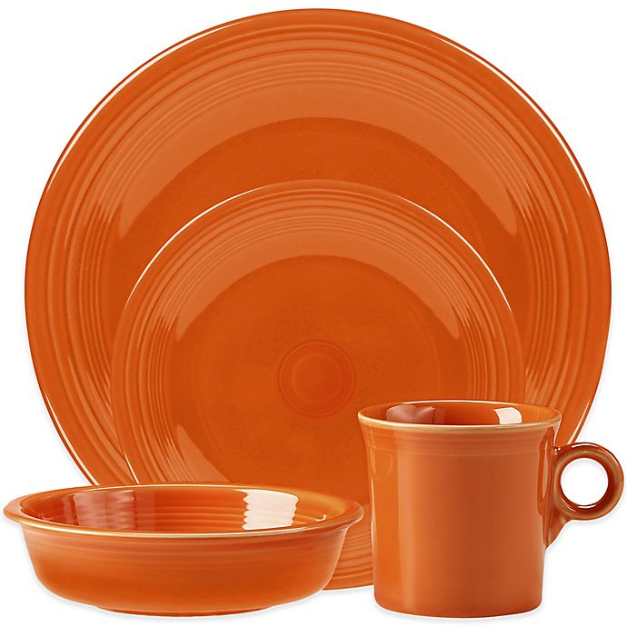 Alternate image 1 for Fiesta® 4-Piece Place Setting in Tangerine