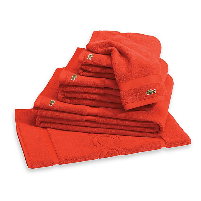 Lacoste Bath Towel Reviews: Buy Lacoste Court Bath Towel In Flame From Bed Bath & Beyond