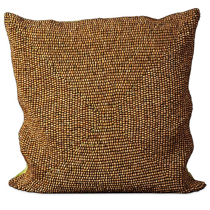 Alternate image 1 for Mina Victory Wood Beads Square Throw Pillow