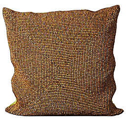 Mina Victory Wood Beads Square Throw Pillow