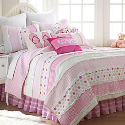 Levtex Home Melanie Ruffled Reversible Quilt Set