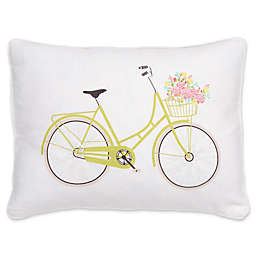 Levtex Home Juliet Bicycle Oblong Throw Pillow in White