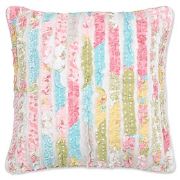 Levtex Home Juliet Ruffled Square Throw Pillow in White