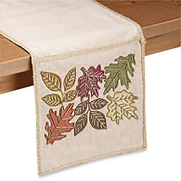Sam Hedaya Riverton Leaves Table Runner