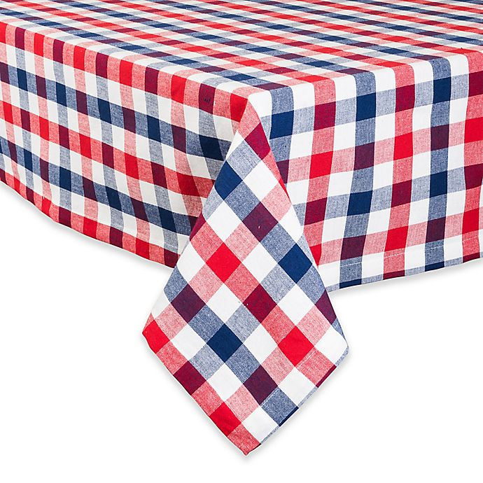 Alternate image 1 for Design Imports Check Tablecloth