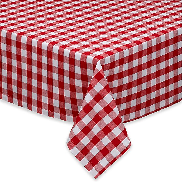 Alternate image 1 for Design Imports Checkers Tablecloth