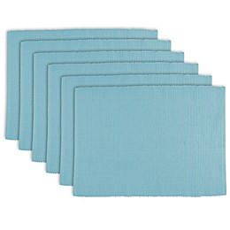 Design Imports Ribbed Cotton Placemats (Set of 6)