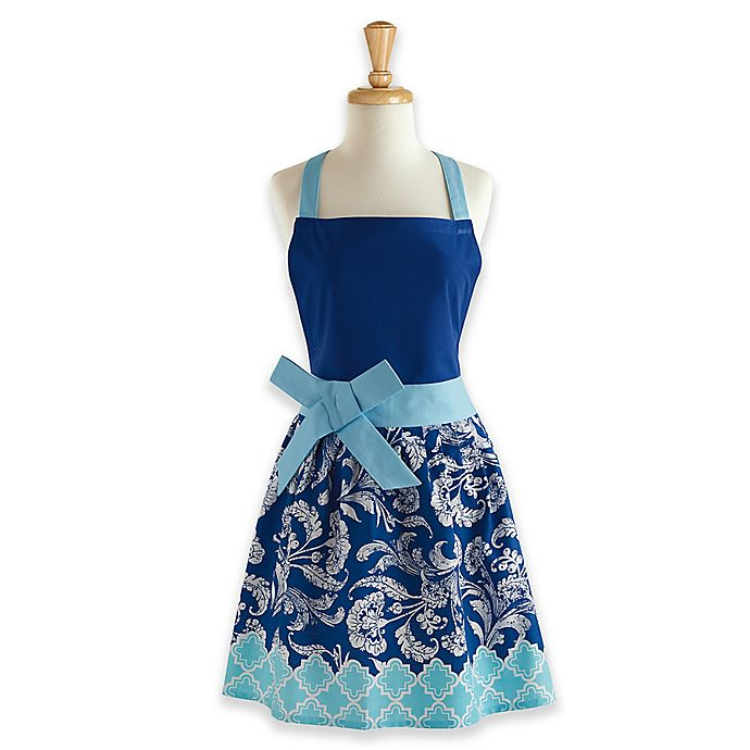 Alternate image 1 for Design Imports Rivera Floral Vintage Apron in Blue
