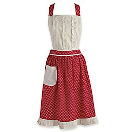 Design Imports Polka Dot Vintage Apron in Red