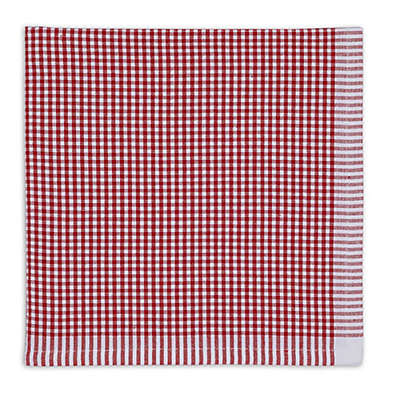 Design Imports Christmas Candy Checked Napkins (Set of 6)