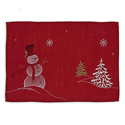 Design Imports Snowman Embroidered Placemats (Set of 6)