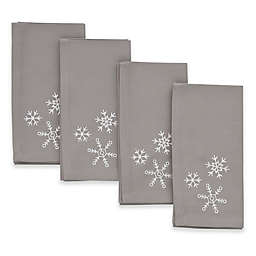 ED Ellen DeGeneres Embroidered Snowflake Napkins (Set of 4)