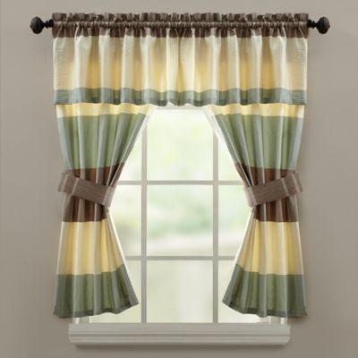 Croscill 174 Fairfax Bath Window Curtain Valance In Taupe