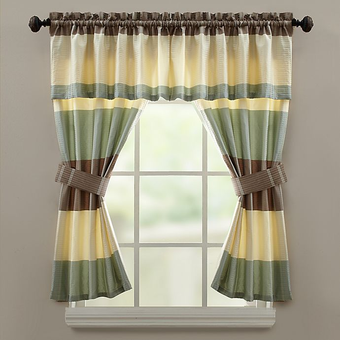 Croscill® Fairfax Bath Window Curtain Valance in Taupe