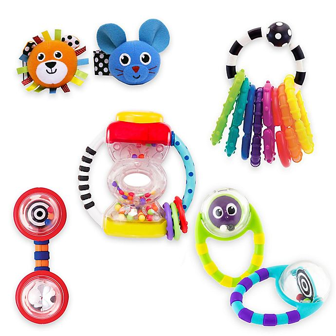 Alternate image 1 for Sassy® Baby's First Rattles Gift Set