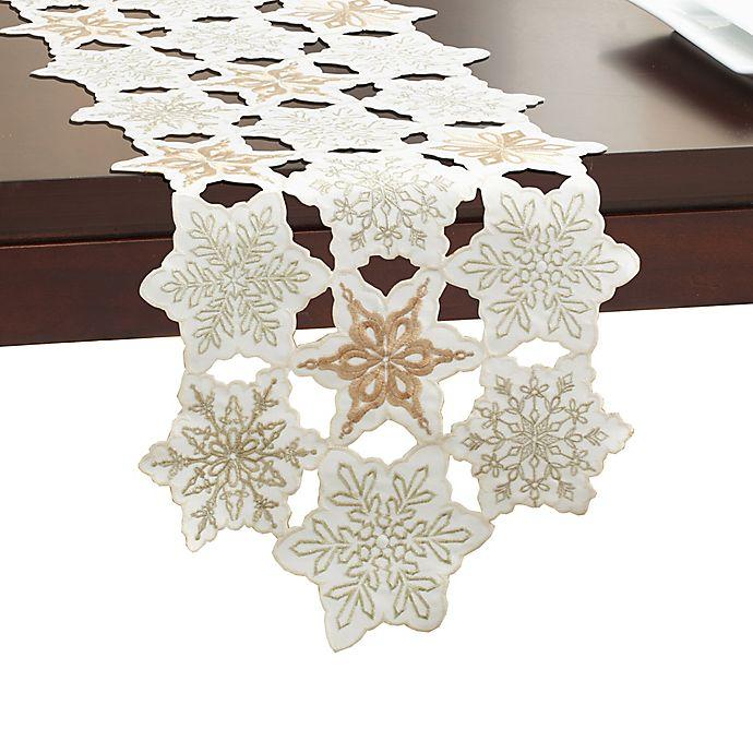 Alternate image 1 for Snowy Dream 72-Inch Table Runner