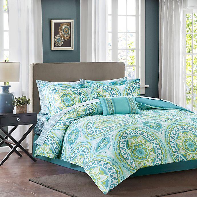 Alternate image 1 for Madison Park Essentials Serenity King Comforter Set in Aqua