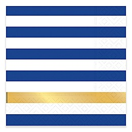 Design Design 20-Count Kenzie Cocktail Napkin in Navy