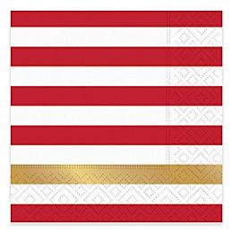 Design Design 20-Count Kenzie Beverage Napkin in Red