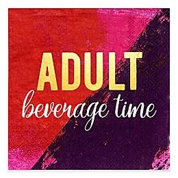 Design Design Adult Beverage Time Cocktail Napkins (Set of 16)