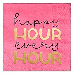 Design Design Happy Hour Every Hour Cocktail Napkins (Set of 16)
