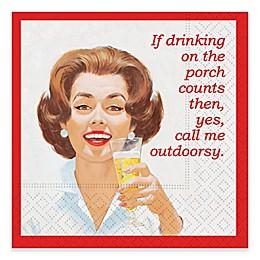 Design Design Call Me Outdoorsy Cocktail Napkins (Set of 16)