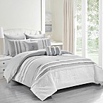 Kensie Chartreux 8-Piece Queen Comforter Set in Grey