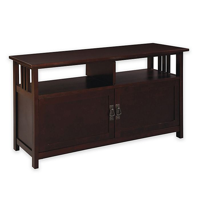 Mission Style Tv Stand With Cabinet Doors Bed Bath Beyond