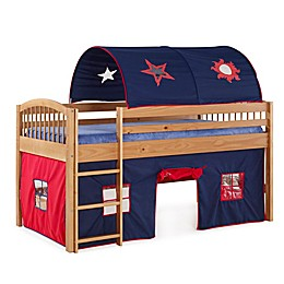 Addison Cinnamon Junior Loft Bed with Tent and Playhouse