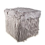 Mongolian Collapsible Ottoman in Grey