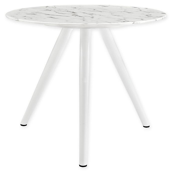 Alternate image 1 for Modway Lippa 36-Inch Round Dining Table in White