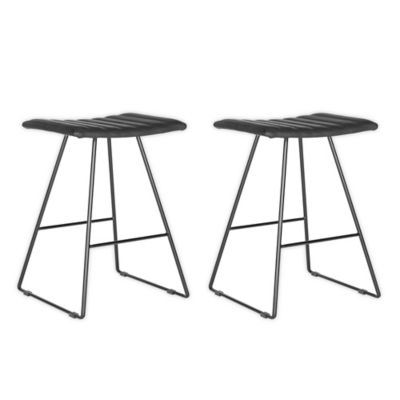 Marvelous Safavieh Akito Counter Stool In Black Cjindustries Chair Design For Home Cjindustriesco